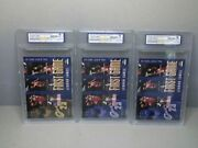 3-lebron James And03903-and03904 Upper Deck Collector First Game Rookie Cards Wcg Grade 10
