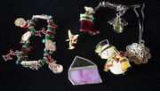 Christmas Vintage Jewelry Pin Lot Pins And Jewelry Misc.