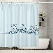 Gorgeous Water Horses Horse Farmhouse Cute Water-repellent Fabric Shower Curtain