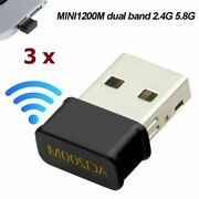 Lot 3 X Usb Wifi Wireless Ac1200 Mbps Adapter Usb 3.0 Network Card For Pc Laptop