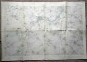 Original 1918 St Aubert Somme Map Ww1 War Office British Trench Medal Military