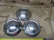 3 1951 1952 1953 Chevrolet Hub Cap 10 Wheel Cover Dog Dish 1950and039s Vintage