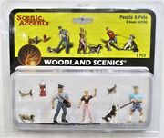 O Scale Woodland Scenics A2768 Scenic Accents People And Pets 8 Pcs
