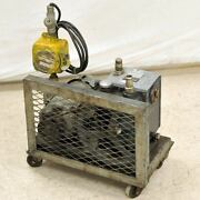 Welch 1400 Duoseal 1402 Vacuum Pump W/explosion Proof Switch Pumps Down As-is