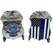 Cl3-02 Retired Va Veterans Affairs Administration Challenge Coin Police Thin Blu