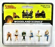 O Scale Woodland Scenics A2759 Scenic Accents People Sitting 6 Pcs