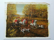 Oil Painting Hunting Hand Painted On Canvas Signed C. Quany Pos-no. 115-1
