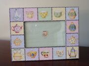 Rare Retired Mary Engelbreit Teapots And Tea Cups Picture Frame 9-1/4 X 7-1/4