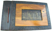An Outstanding Eretz Israel Palestine Olive Wood- Leather-copper Pl Photo Album