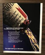 1986 Michelob Beer Print Ad Excellent Color Ph1