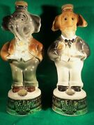 Jim Beam Political Decanters Donkey And Elephant About 11andfrac12 Tall Vintage Excon