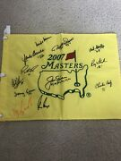 12 Masters Winners Signed Masters Golf Flag Jack Nicklaus Gary Player Jsa Coa