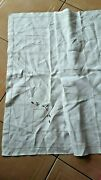 Nappe Blanche Ancienne Broderie Jors Main@ Tablecloth
