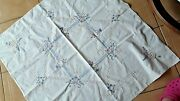 Nappe Blanche Ancienne Broderie @ Tablecloth