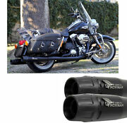 Mohican Arrow Exhaust Black Harley Davidson Touring 2007 07