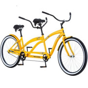 2 Adults Bicycle Tandem Bike Two Person Beach Cruiser Extra Large Seats Saddles