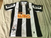Autographed Shirt By Ronaldinho Gaucho And Other Players From Atlandeacutetico Mineiro