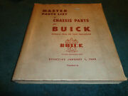 1928-1949 Buick Chassis Parts Catalog / Orig Parts Book 48 47 46 42 41 40 39 38+
