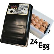 Rite Farm Products Pro Master Series 24 Chicken Egg Incubator And Hatcher Turner