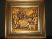 Anri 16andrdquox16andrdquo Relief Woodcarving The Declaration Of Independence