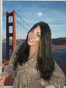 Elana Wigs Couture Line. Luxury Russian Hair .dark Brown /highlights M 26andrdquowavy