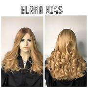 100european Virgin Hair Wig Custom Made By Elana Wigs 23andrdquo Blond Mediun