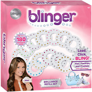 Blinger Brilliance Color Refill Set Andndash Includes 180 Round Gems In A Variety Of 12