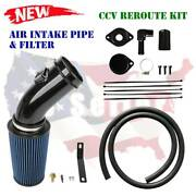 Powerstroke 6.7l Air Intake Pipe Filter And Cvv Reroute For 2011-2016 Ford Diesel
