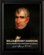 William Henry Harrison 9th President Poster Picture Or Framed Wall Art