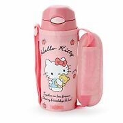 Sanrio Hello Kitty Thermos Cover With Straw Bottle 400ml