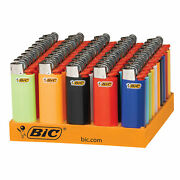 Bic Mini Lighter Assorted Colors 50-count Tray