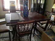 Antique Dining Room Suite 6 Chair Table 1900-1950