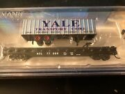 Bachmann 16754 N Scale Andldquoacl Tofc With Yale Trailer Rd.77069