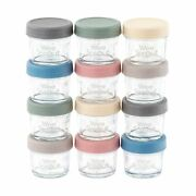Glass Baby Food Storage Containers/lids 12 - 4 Oz High Quality Durable Safe