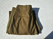 Early-ww2 Button Fly Officerand039s Wool Trousers/pants Size 34x31
