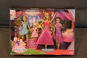 New Rare Barbie And Her Sisters In A Pony Tale 4 Doll Giftsetandnbsp