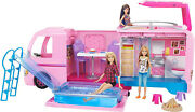 Barbie Camper Van With Sliding Pool Girls Toy Set Fast Ship New In Hand