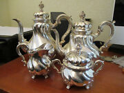 Handarbeit Sterling Silver Tea And Coffee Set Hand Made Weight 63.62 Oz Or 1978.5