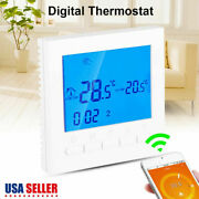 Programmable Wifi Thermostat Temperature Controller Electric Heating Alexa Us