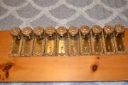 Antique Vintage Intricate Pattern Design Matching Door Knobs, Face Plates 316