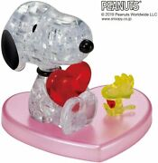Beverly 3d Crystal Puzzle Snoopy Hug Heart 31 Pieces Japan