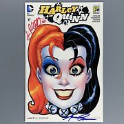 Harley Quinn 17 Sdcc 2015 Signed By Amanda Conner And Jimmy Palmiotti Variant Nm