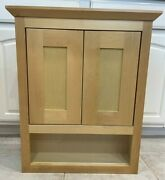Seasons 21w X 26h X 6d Natural Maple Shaker Over The John Vanity Wall Cabinet