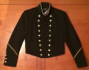 399 Polo Womenand039s Cavalry Military Jacket Coat Black Brass Gold