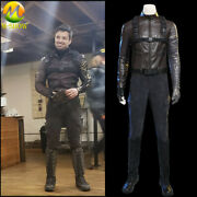 The Falcon And The Winter Soldier Cosplay Costume Bucky Barnes Brown Jacket Men