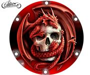2004-2021 Harley Davidson Sportster 883 1200 Derby Clutch Cover Dragon And Skull