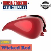 Wicked Red Stretched Tank Cover Fits Harley Davidson Street Road Glide 2008-2020