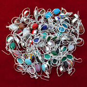 Wholesale Lot Choose Your Pair Mix Gemstone 925 Silver Plated Earrings Jewelry