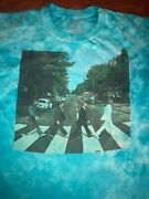 Awesome Beatles Abbey Road Tie-dye T-shirt Size Medium Distressed Preowned