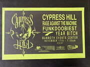 1993 Vintage Cypress Hill Rage Against The Machine Mammoth Events Poster Co